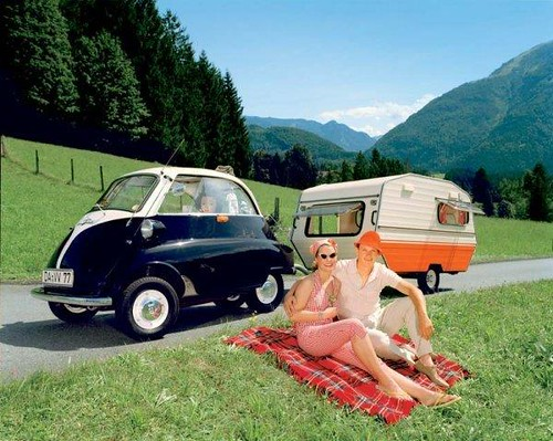 BMW Isetta & Trailer