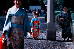 Three Generations; Meiji Jingu Shrine, Tokyo (Alfie | Japanorama) Tags: family grandma ladies girls woman girl japan lady geotagged asian temple japanese tokyo women shrine asia grandmother traditional daughter mother mum kimono meiji jingu kimonos geo:lat=3567113 geo:lon=139701564