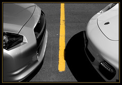 There is a line drawn on the tarmac.. (B. R. Murphy) Tags: nissan 911 turbo porsche gtr r35