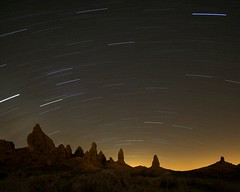 Star Trails and Pinnacles, Trona, CA.  March 23, 2007 (Robert Pearce Photography) Tags: robertpearce tronapinnaclescaliforniadesertstartrailsstartrailsnight