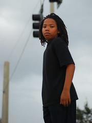 (Rock.Solid.One) Tags: street boy portrait tree youth tampa 50mm nikon streetlight child candid young powerlines fl nikkor fla selectivefocus 50mm18 locs dreds dredlocs d80