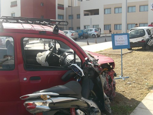 car crash exhibition hania chania hospital