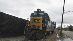CSX Transportation Co locomotives on West 16th Street. Cicero Illinois. October 2008.