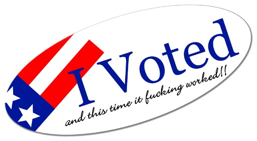 Please return to your polling stations to receive your new stickers