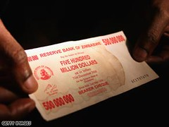 Zimbabwe 500 million banknote