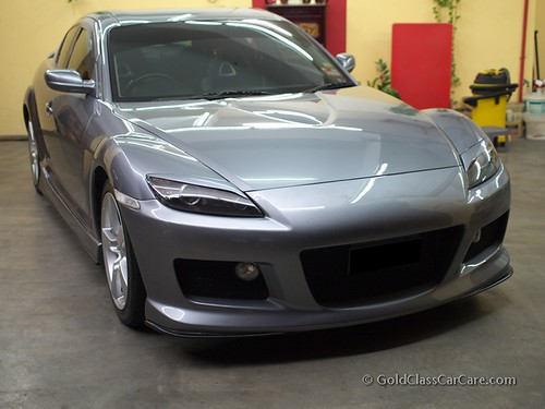 Titanium Grey Mazda RX-8 Auto Detailing at Gold Class Car Care