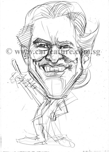 Celebrity caricatures - Jim Carrey pencil sketch watermark