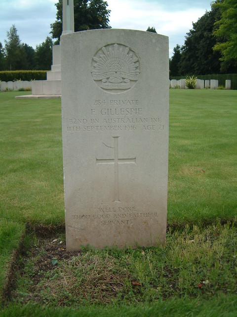 Private Frank Gillespie - Died of Wounds 1916 by Moominpappa06