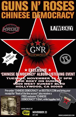 Guns N Roses Listening Party 11/18