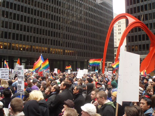 Chicago rally against Proposition 8`