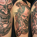 Hannya and snake - Custom Tattooing by Kevin Riley - More at CLEANandSOLID.com