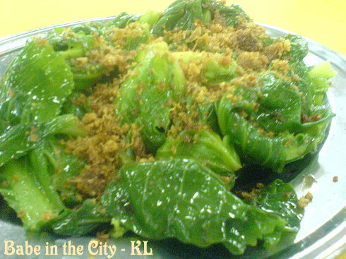 SL - stir fried choi tam (brussel sprouts) RM6