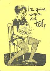 Receta de salsa Romesco del Restaurant Tof de Calafell - anverso