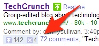 SearchWiki Counts