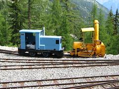 Ruston Diesel & Snowplough (Jeremy R. Hartley) Tags: train switzerland suisse diesel swiss railway gauge narrow snowplough ruston vallorcine chatelard chemindefer emosson voieetroite 600mmgauge