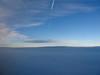 tappeto di nuvole e scia