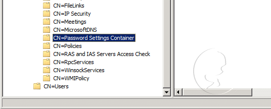 CN=Password Settings Container