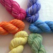 Semi-Solid Rainbow Set on 3 ply Urgugay Merino **Summer Sale!**