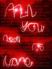 All You Need Is Love (Jennifer Schofield) Tags: pink light red art love photoshop lyrics all display song text manipulation sparklers torch beatles adjustments photoart songlyrics textart allyouneedislove wrting jenniferschofield