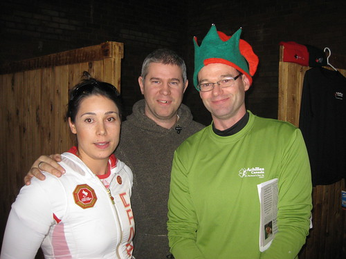 Victoria and Eamonn Nolan with Brian McLean of Achilles Canada