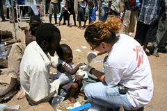 Médecins Sans Frontières treating cases of Cholera