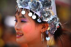 Bangled Beauty (Michael Steverson) Tags: girls woman cute college students beautiful canon silver asian dress singing dancing head anniversary chinese performance games celebration teachers 50th allrightsreserved bangles guangxi expatriate liuzhou 40d expatriategames shatang