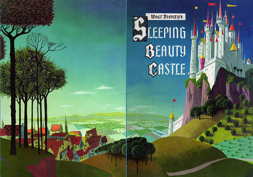 Disneyland Castle souvenir book cover 1956