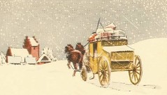 Home for Christmas 1939 (hagerstenguy) Tags: christmas winter horses horse home weihnachten wagon for navidad village snowstorm noel jul wonderland joulu frohe 1939snow