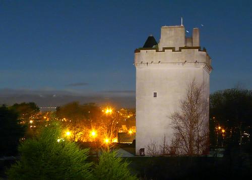 Law Castle at night 15Dec08