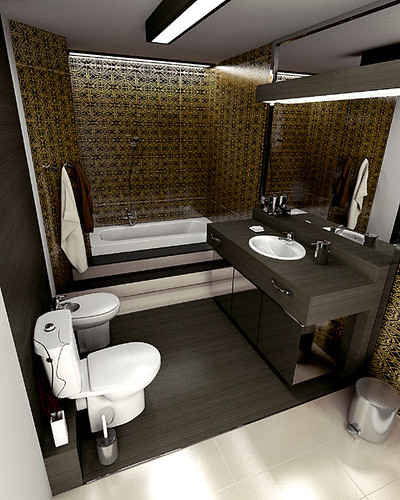 Comfortable Bathroom design for Roca producer, by InsideLab