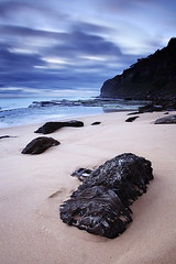 Cool contrasts (Tim Donnelly (TimboDon)) Tags: longexposure sea sunrise australia nsw cokin ocea bungan flickrsbest