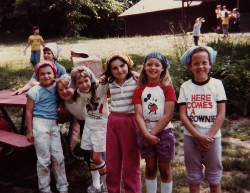 At Girl Scout camp, circa age 7.