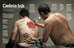 Cadeia Ink (Gabriel Gianordoli) Tags: magazine design jail editorial tatoo