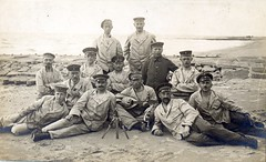 A day at the beach ( drakegoodman ) Tags: portrait beach postcard mandolin rr worldwarone soldiers ww1 greatwar firstworldwar worldwar1 bayonet germansoldier germansoldiers bayonets rppc peakedcap infantrymen feldpost troddel feldmutze krtzchen