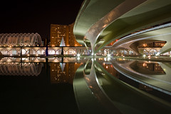 Reflecting my world v.2 (Kamuro) Tags: espaa reflection water valencia architecture night canon eos rebel spain nightshot shapes reflejo xs cac nocturne rebelxs kamuro flickrlovers 1000d
