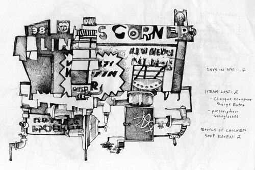 Sketchbook: I Miss Oklahoma, ink on paper, February 2009 by Sarah Atlee