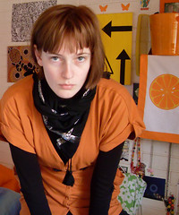 mabye02 (hopelesslovley) Tags: orange selfportrait girl style brownhair