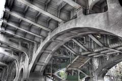 The Poniatowski Bridge in Warsaw :: HDR (Prof. Pixel) Tags: bridge architecture stairs photoshop canon photography poland polska most warsaw hdr warszawa underthebridge cs3 architektura photomatix 24105mm poniatowskiego poniatowski canon24105mm canon5dmarkii