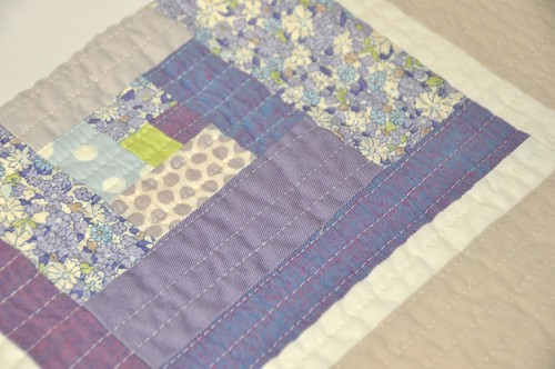 purple quilt close up