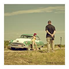 03555 (Myrkwood666) Tags: people buick menschen retro nostalgia 1950s rocknroll pinup nostalgie mensen tinavonnekro seelenwinter mørkskygge myrkwood666