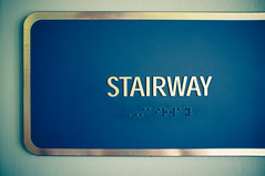 STAIRWAY (TerryJohnston) Tags: blue sign mi words michigan letters font fujifilm grandrapids wt grap x100 wealthytheatre amazingmich fujifilmfinepixx100