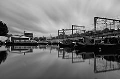 Regent canal near King's Cross (Peverus) Tags: uk london water rain boat canal long exposure pentax nd 16 k5 hoya