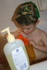 Bathtime with a JD hat
