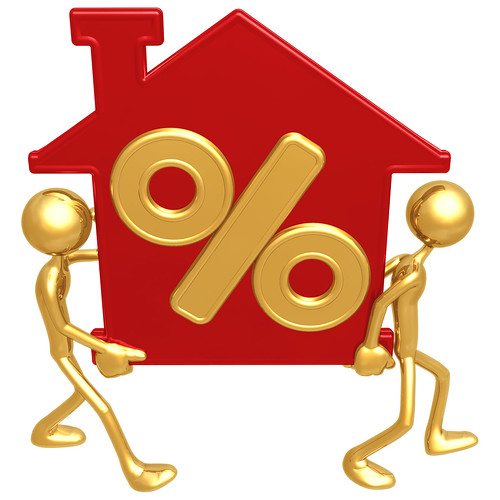 An illustration in reference to the percentage of interest on a home loan