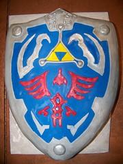 Zelda Shield Cake (By Me Treats) Tags: game me cake by video treats nintendo videogame zelda shield nes custom snes specialty wii hylian yummiciosos