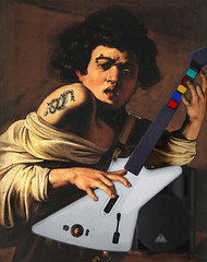 Caravaggio's Guitar Hero (The PIX-JOCKEY (no comments, only views!)) Tags: guitarhero caravaggio guitarist fotomontaggi chitarrista eliteimages clevercreativecaptures robertorizzato