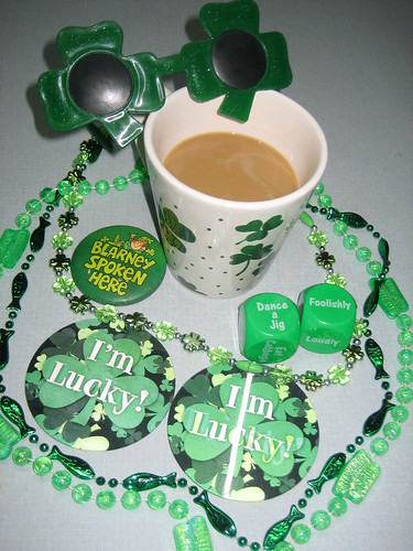 St Patty's Day prep, Irish coffee and bling