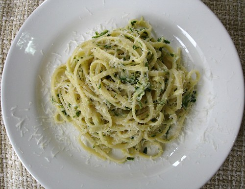 Artichoke and lemon linguine