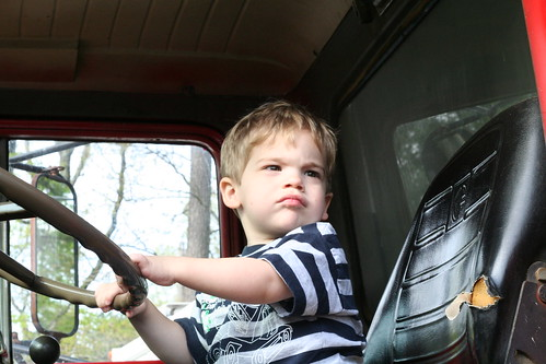 "Walker ""Driving"" the ""Red Dump Truck"""