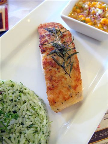 rosemary-crusted salmon